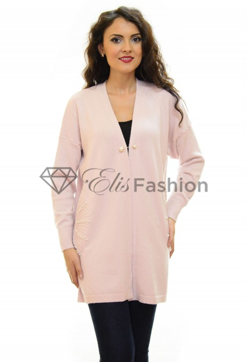 Cardigan Pearls Fresh Pink