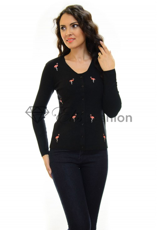 Cardigan Flamingo Black