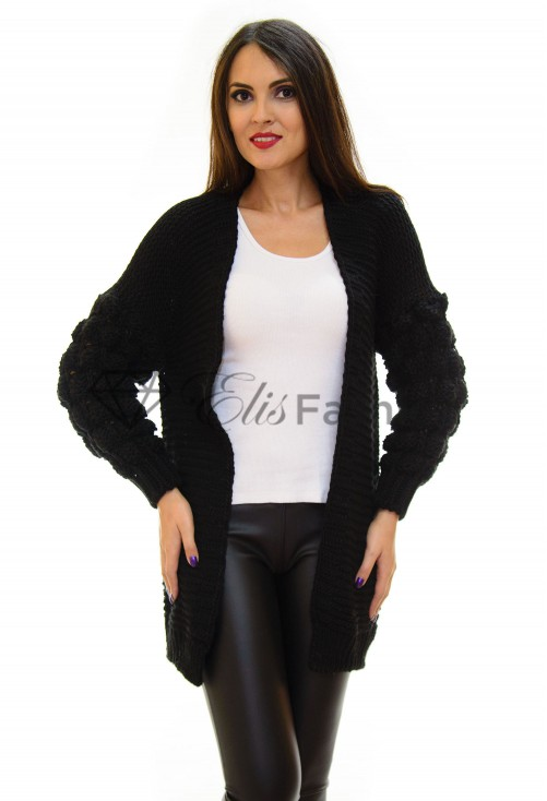Cardigan Bubble Black