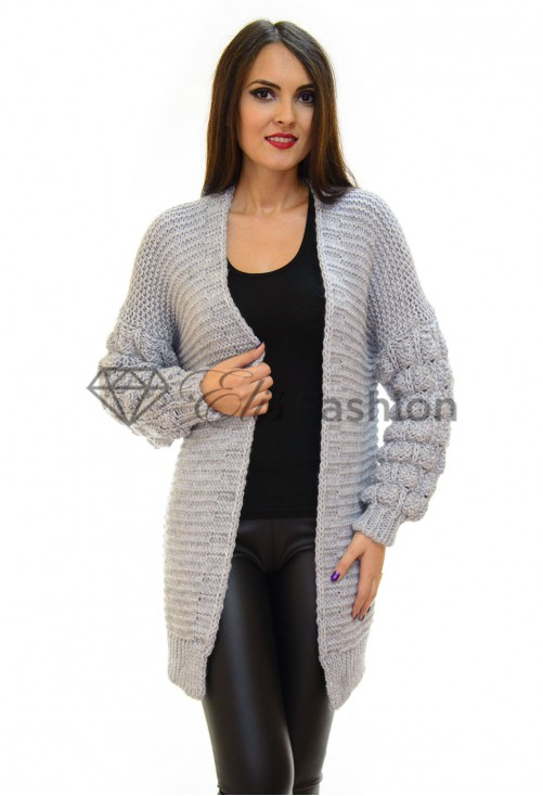 Cardigan Bubble Grey