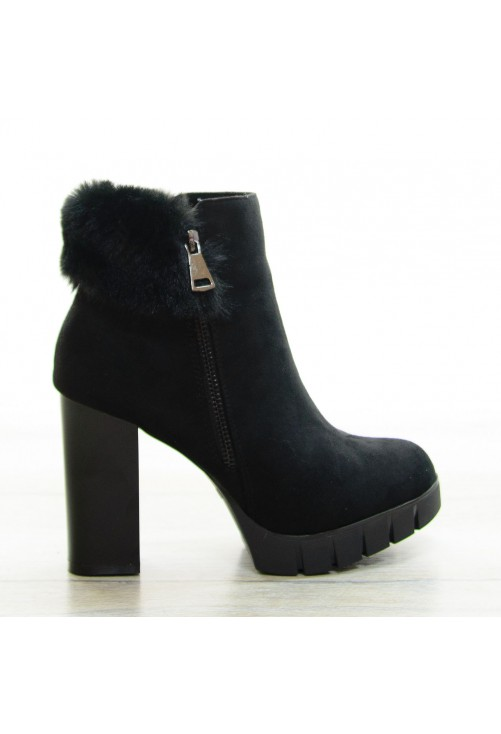 Botine Fluffy Black #8419