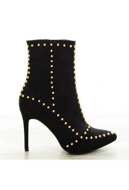 Botine Gold Bubbles Black #8422