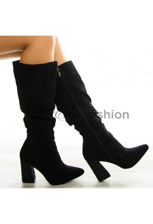 Cizme Sparkling Heel Black #8427