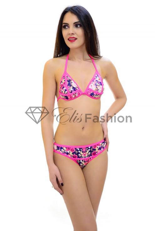 Costum de Baie Bright Flowers Pink