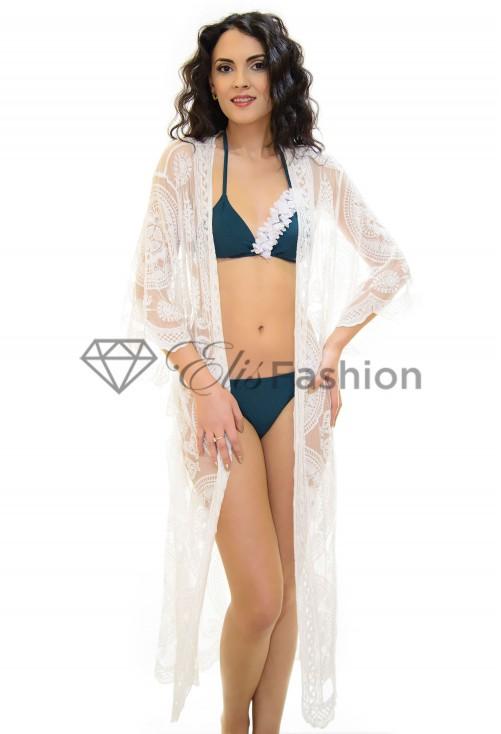 Cardigan de Plaja Lace Wise White