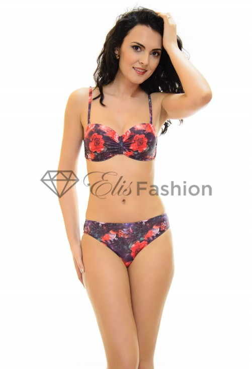 Costum de Baie Speech Roses Black