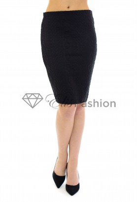 Fusta Knitted Appearance Black