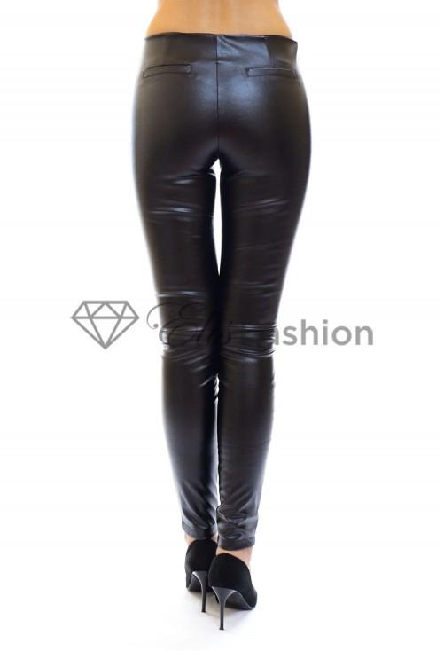 Pantaloni Leather Fussion Black