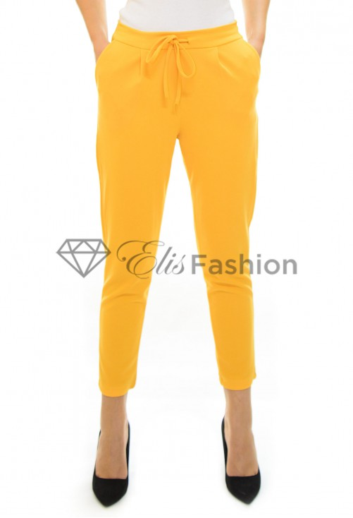 Pantaloni Back Mind Mustard