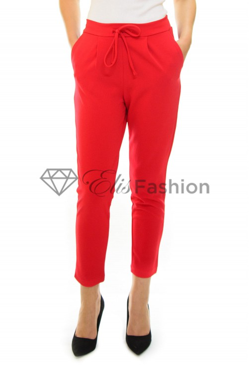 Pantaloni Back Mind Red