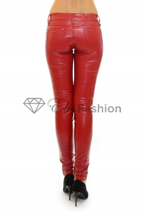 Pantaloni Trust Leather Red