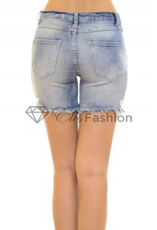 Pantaloni Scurti Jeans Lace