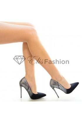 Pantofi Chic Ombre Silver #3512