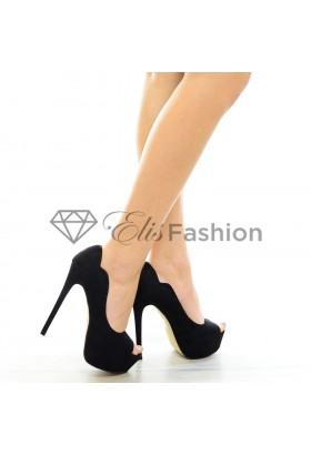 Pantofi Curly Black #4148