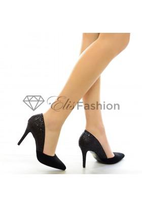 Pantofi Sparkle Black #4267