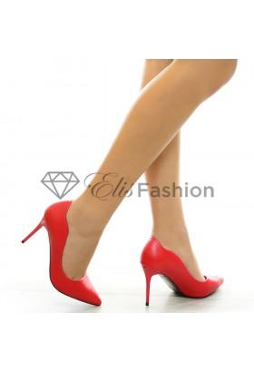 Pantofi Curly Red #6307