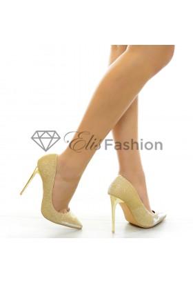 Pantofi Sparkling Gold #6315