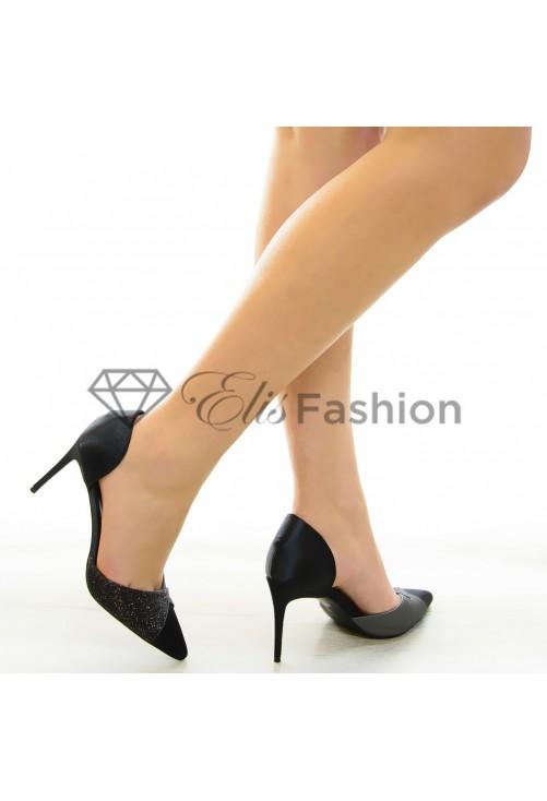 Pantofi Stretch Black #7065