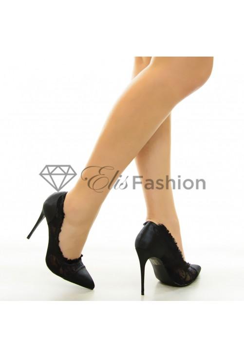 Pantofi Pumping Lace Black #7079