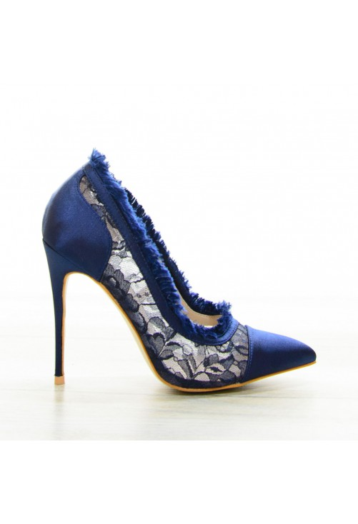Pantofi Pumping Lace Navy #7080