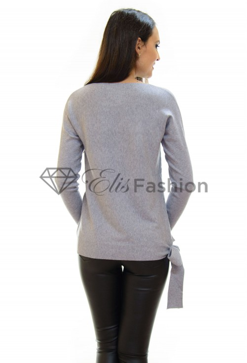 Pulover Top Knot Grey