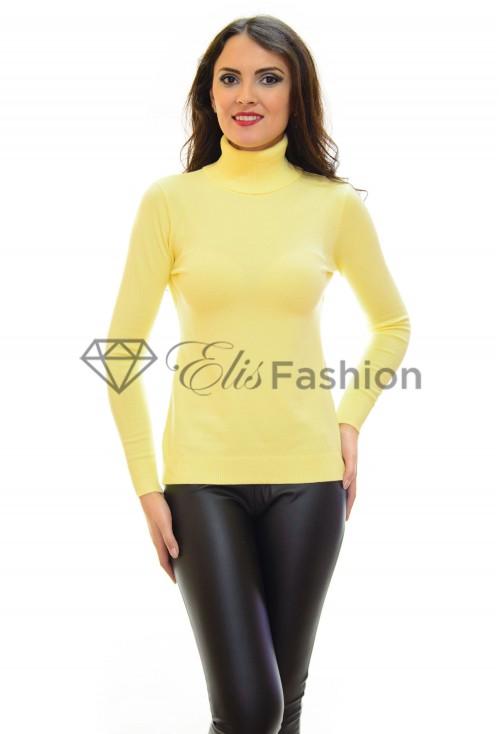 Pulover Warm Collar Yellow