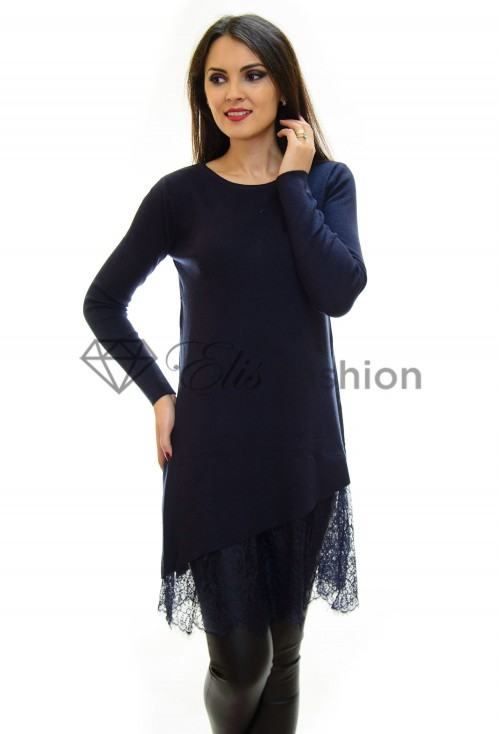 Pulover Lace Theory DarkBlue