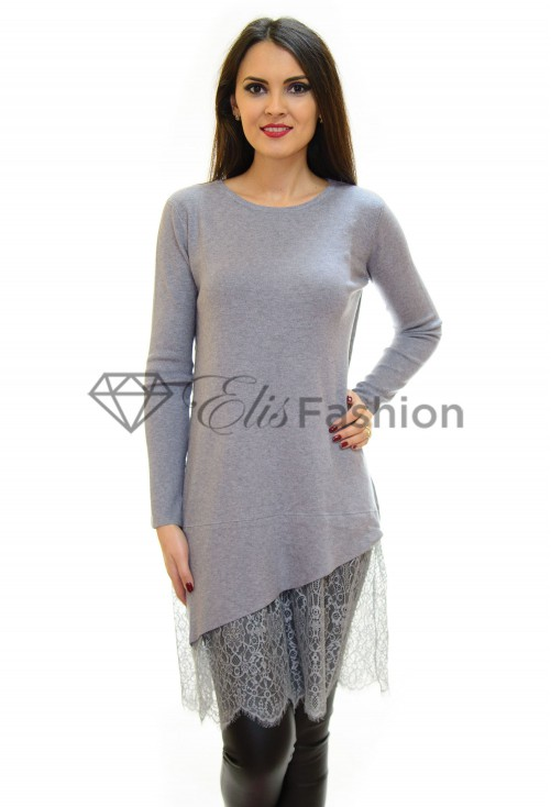 Pulover Lace Theory Grey