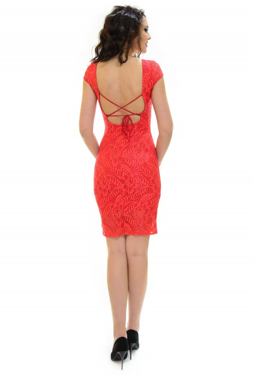 Rochie Red Back Lace