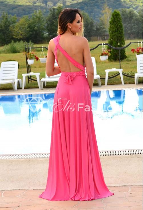 Rochie Versatila Shiny Step Pink