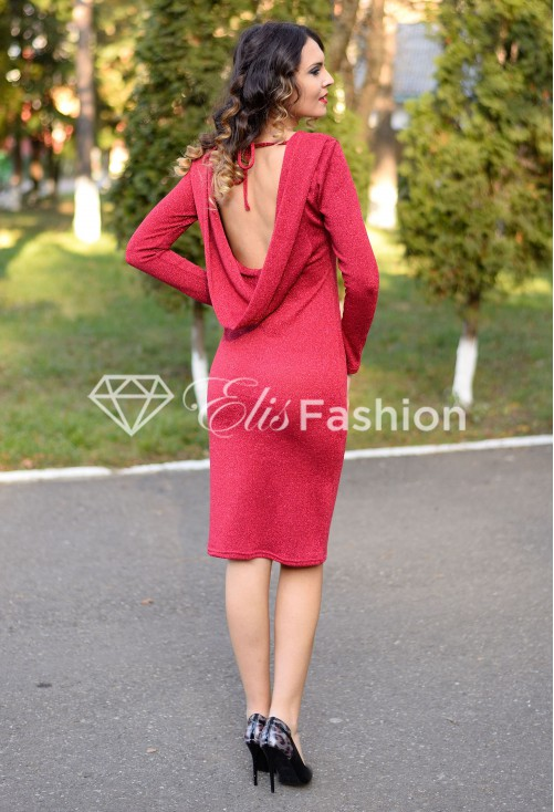Rochie Glitter Injection Red