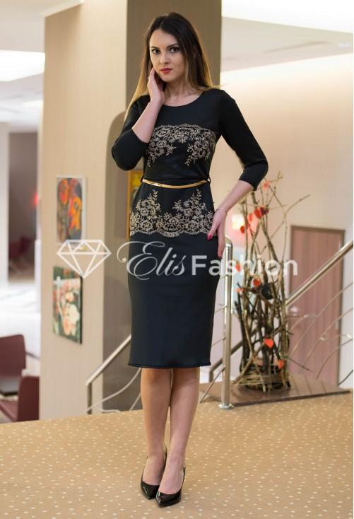 Rochie Golden Sparkle Black