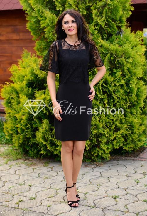 Rochie Ella Collection Elegant On Top Black