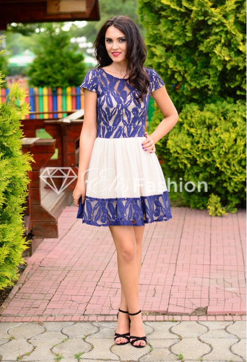 Rochie Ella Collection Facing True DarkBlue