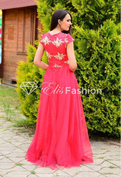 Rochie Ella Collection Golden Aspect Red