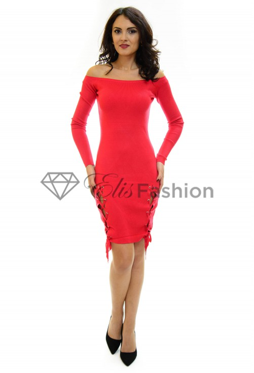 Rochie Tricotata Sliding On Red