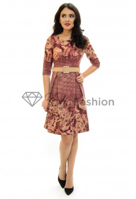 Rochie Past Time Brown