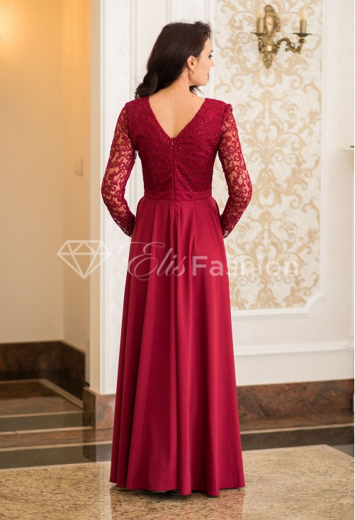 Rochie Ella Collection Fantasy Novel Burgundy