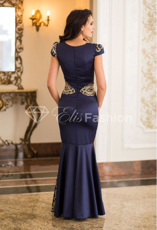 Rochie Ella Collection Mermaid Statistic DarkBlue