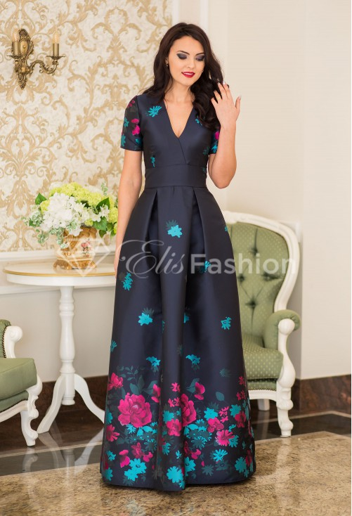 Rochie Ella Collection Embelishment DarkBlue