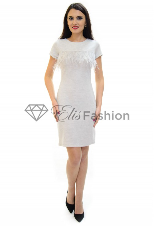 Rochie Feather Stop Grey