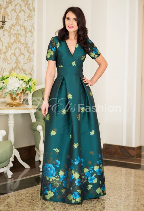 Rochie Ella Collection Embelishment Green