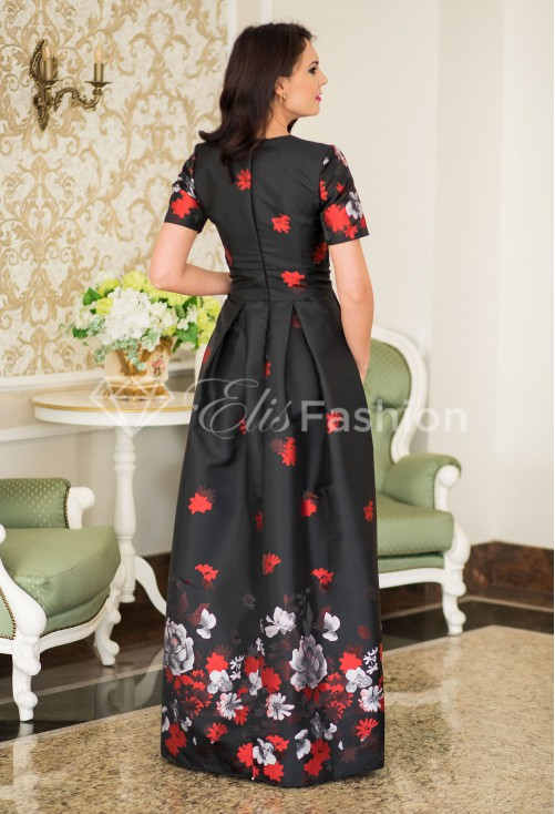 Rochie Ella Collection Embelishment Black