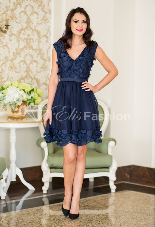Rochie Ella Collection Catchy Astonishment DarkBlue