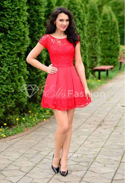 Rochie Ella Collection Simplicity Red
