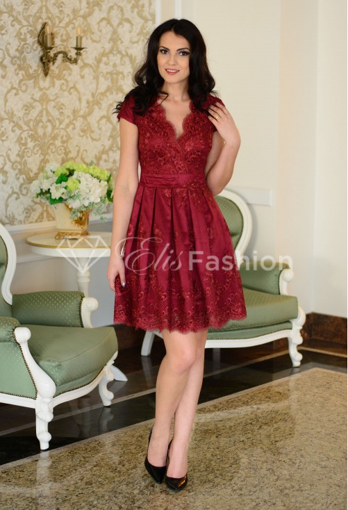 Rochie Ella Collection Legacy Future Burgundy