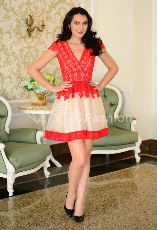 Rochie Ella Collection Tempting The Best Red
