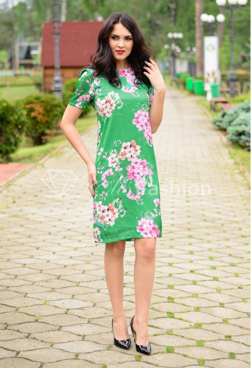 Rochie Floral Grace Green