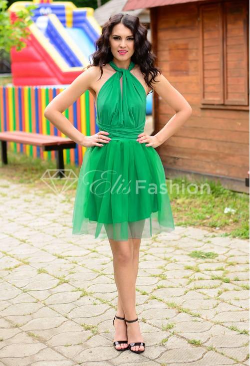 Rochie Versatila cu Tulle Green
