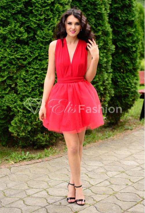 Rochie Versatila cu Tulle Red